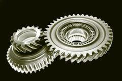 Dos ruedas dentadas fotos de archivo
