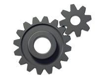 Dos ruedas dentadas imagen de archivo