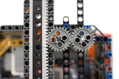 Dos ruedas dentadas de los plásticos Fotos de archivo libres de regalías