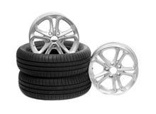 Dos ruedas y neumáticos Fotos de archivo libres de regalías
