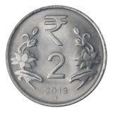 Dos rupias indias Foto de archivo
