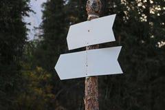Dos señales de dirección Foto de archivo libre de regalías