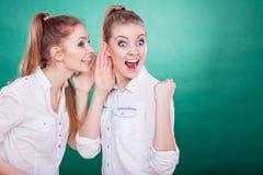 Dos secretos de las partes de los adolescentes, chisme Fotografía de archivo libre de regalías