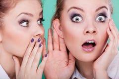 Dos secretos de las partes de los adolescentes, chisme Imagen de archivo libre de regalías