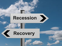 Metáfora da recuperação da retirada Fotografia de Stock