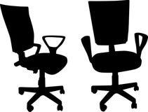 Dos sillas de la oficina aisladas en blanco stock de ilustración