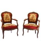 Dos sillas de la tapicería Imagenes de archivo