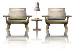 Dos sillas de madera Foto de archivo