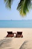 Dos sillas de playa Fotografía de archivo