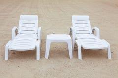 Dos sillas de playa Foto de archivo