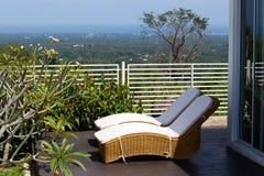 Dos sillas de playa Imágenes de archivo libres de regalías