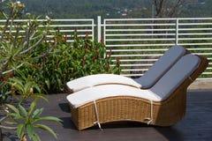 Dos sillas de playa Fotografía de archivo libre de regalías
