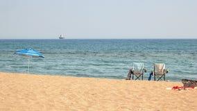 Dos sillas en la playa Imagen de archivo