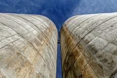 Dos silos Imágenes de archivo libres de regalías