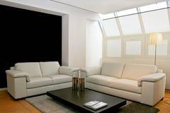 Dos sofás de cuero foto de archivo