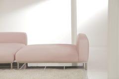 Dos sofás rosados de la día-cama Fotografía de archivo libre de regalías