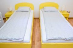 Dos solas camas Fotos de archivo libres de regalías