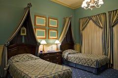 Dos solas camas Imagen de archivo