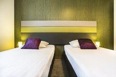 Dos solas camas Imagen de archivo libre de regalías