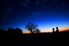 Dos sombras Imágenes de archivo libres de regalías