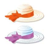 Dos sombreros de los women's por días de verano stock de ilustración
