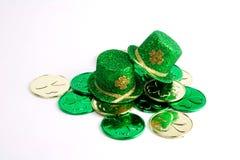 Dos sombreros del día del St. Patrick Imagen de archivo libre de regalías