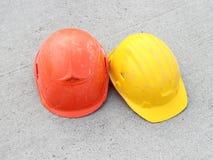 Dos sombreros duros Imagen de archivo libre de regalías