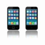 Dos stylized el teléfono móvil Imagenes de archivo
