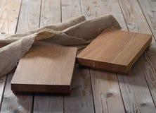 Dos tajaderas vacías para los platos Imágenes de archivo libres de regalías