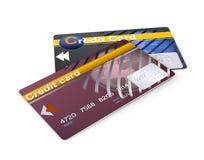 Dos tarjetas de crédito fotografía de archivo