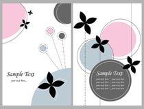 Dos tarjetas de felicitación florales Imagen de archivo libre de regalías