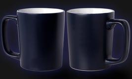 Dos tazas azul marino Imagenes de archivo