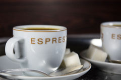 Dos tazas con café sólo Fotos de archivo