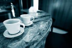 Dos tazas de bebida Foto de archivo