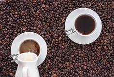 Dos tazas de café Imagen de archivo