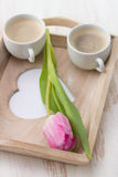 Dos tazas de café Foto de archivo