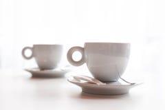 Dos tazas de café Fotos de archivo