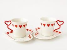 Dos tazas de café imágenes de archivo libres de regalías