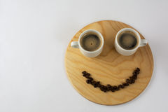 Dos tazas de café divertidas Imagen de archivo