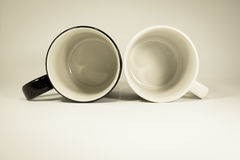 Dos tazas de café en backgound Imagenes de archivo