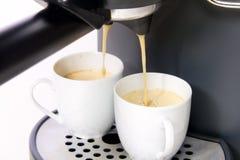 Dos tazas de café express Foto de archivo libre de regalías