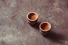 Dos tazas de café express del café Fotos de archivo