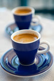 Dos tazas de café griego Fotos de archivo