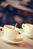 Dos tazas de cafés Foto de archivo libre de regalías
