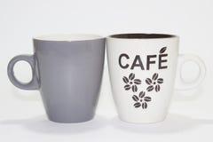 Dos tazas de coffe Foto de archivo libre de regalías