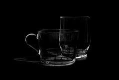Dos tazas de cristal Imagen de archivo