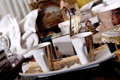 Dos tazas de té Fotos de archivo libres de regalías