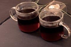 Dos tazas de té Foto de archivo libre de regalías