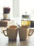 Dos tazas de té Fotos de archivo