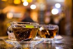 Dos tazas de té Fotografía de archivo libre de regalías